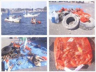 本船岸壁からのお知らせ|海底清掃