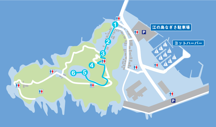 江の島展望コースマップ