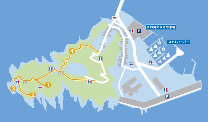 江の島浪漫コースマップ