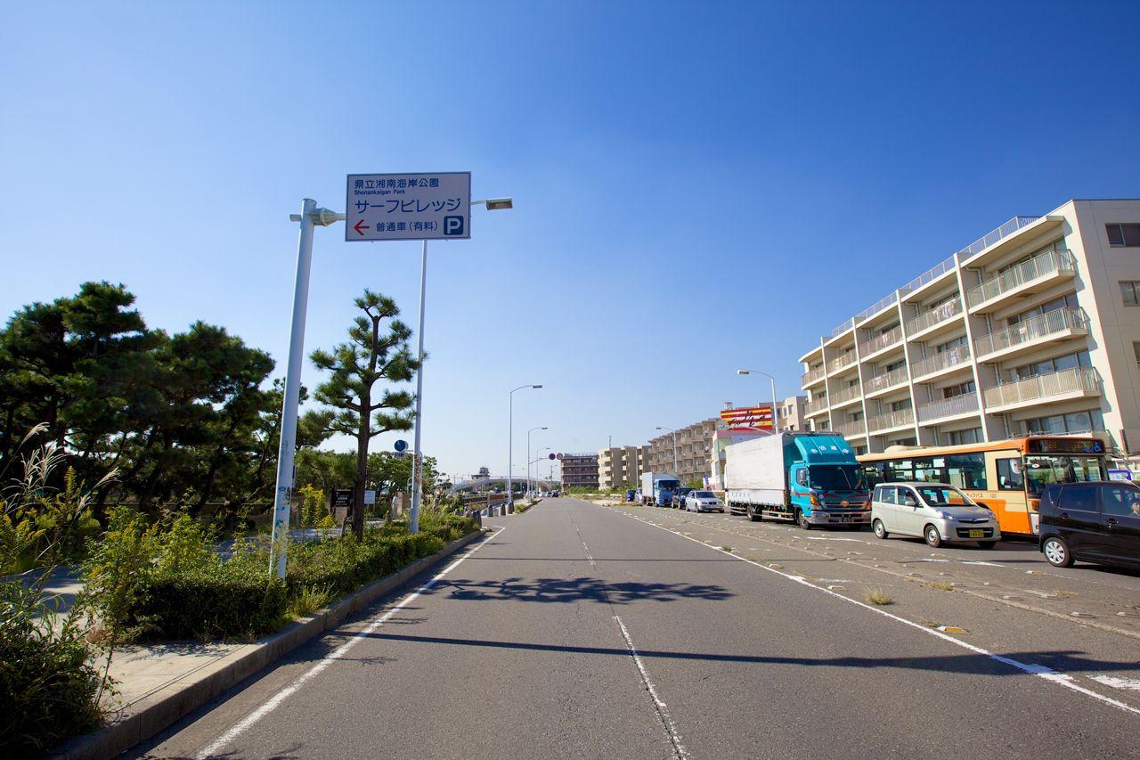 緑陰広場駐車場への経路1