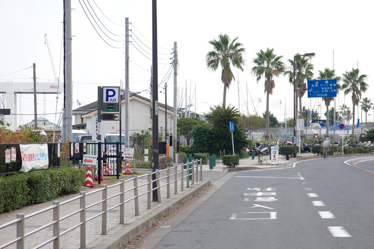 江の島なぎさ駐車場左折