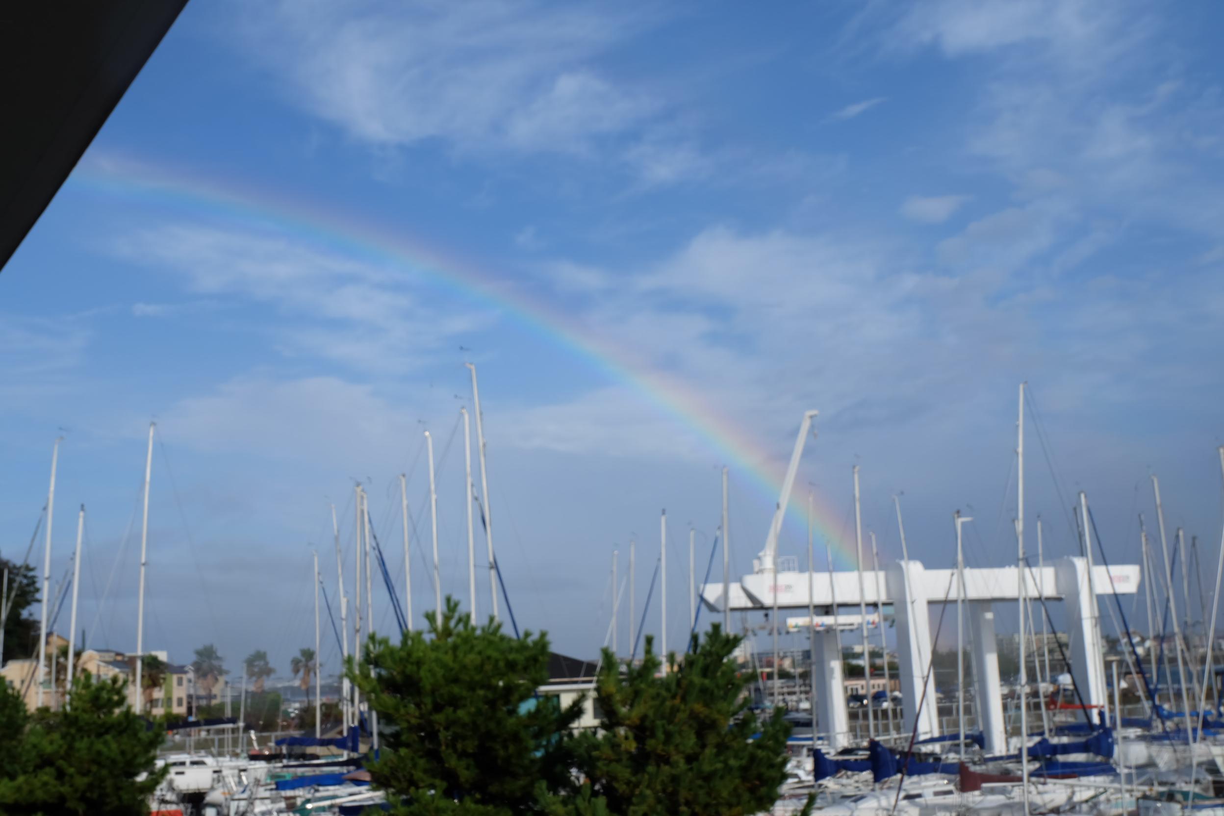 湘南港からの虹